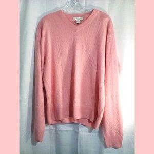 Turnbury Sweater Pullover Sz M Pink Silk Cashmere